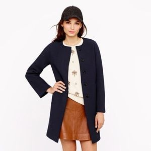 NWOT J.Crew Double Cloth Sabrina Coat, Navy